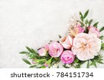 Stock photo summer blossoming delicate roses on blooming flowers festive background pastel and soft bouquet 784151734