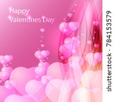 happy valentines day greeting... | Shutterstock .eps vector #784153579