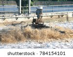 Small photo of machine surface aerator add oxygen in wastewater