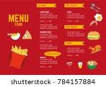menu food restaurant or cafe... | Shutterstock .eps vector #784157884