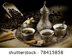 arabic coffee pot with  hot... | Shutterstock . vector #78415858
