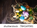easter holiday concept with...   Shutterstock . vector #784169581