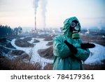 people in gas masks | Shutterstock . vector #784179361