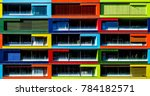 colorful residential building ...