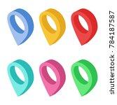 set of isometric navigational... | Shutterstock .eps vector #784187587