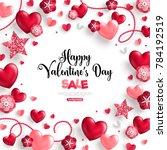 happy saint valentine's day... | Shutterstock .eps vector #784192519