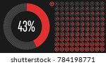 set of circle percentage... | Shutterstock .eps vector #784198771