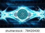 digital illustration of gene in ... | Shutterstock . vector #78420430