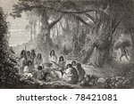 old illustration of a group of... | Shutterstock . vector #78421081