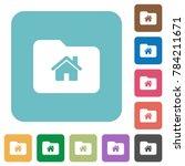 home folder white flat icons on ... | Shutterstock .eps vector #784211671