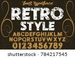 font.alphabet.script.typeface... | Shutterstock .eps vector #784217545