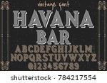 font alphabet script typeface... | Shutterstock .eps vector #784217554