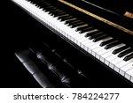 piano and piano keyboard | Shutterstock . vector #784224277