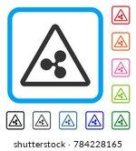 ripple warning icon. flat grey...