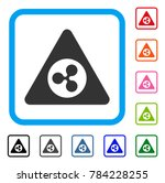 ripple danger icon. flat grey... | Shutterstock .eps vector #784228255