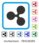ripple currency icon. flat gray ...