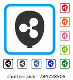 ripple balloon icon. flat gray...