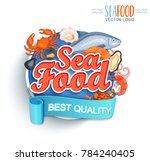 seafood best quality logo.... | Shutterstock . vector #784240405
