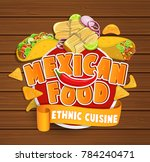 mexican food logo  food label... | Shutterstock . vector #784240471
