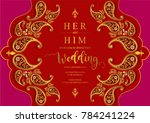 indian wedding invitation card... | Shutterstock .eps vector #784241224
