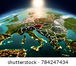 sunrise above austria... | Shutterstock . vector #784247434