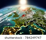 sunrise above netherlands... | Shutterstock . vector #784249747