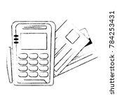 voucher machine with credit card   Shutterstock .eps vector #784253431