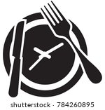 restaurant wait time icon | Shutterstock .eps vector #784260895