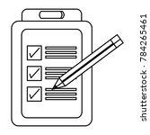 checklist icon image | Shutterstock .eps vector #784265461
