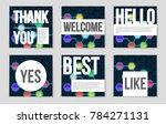 abstract vector layout... | Shutterstock .eps vector #784271131