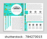 abstract vector layout... | Shutterstock .eps vector #784273015
