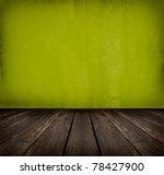 Dark Vintage Green Room With...