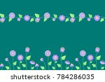 2 semaless patterns in green... | Shutterstock .eps vector #784286035