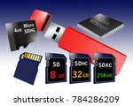 flash memory is the theme of... | Shutterstock . vector #784286209