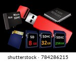 flash memory is the theme of... | Shutterstock . vector #784286215
