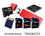 flash memory is the theme of... | Shutterstock . vector #784286221