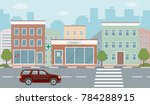city life illustration with... | Shutterstock .eps vector #784288915