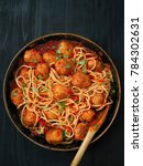 close up of rustic meatball... | Shutterstock . vector #784302631