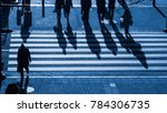 silhouette people walk on... | Shutterstock . vector #784306735