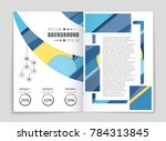 abstract vector layout... | Shutterstock .eps vector #784313845