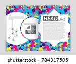 abstract vector layout... | Shutterstock .eps vector #784317505