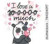 cute teddy bear character in... | Shutterstock .eps vector #784326097