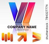 modern minimal vector logo for... | Shutterstock .eps vector #784327774