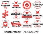 valentine template banner... | Shutterstock .eps vector #784328299