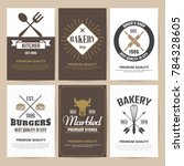 restaurant retro vector logo... | Shutterstock .eps vector #784328605