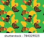 chicken golden laced wyandottes ...   Shutterstock .eps vector #784329025