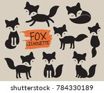 simple fox silhouette vector... | Shutterstock .eps vector #784330189