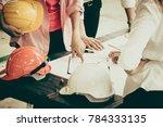 asian engineer concept teamwork ... | Shutterstock . vector #784333135
