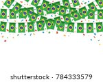 brazilian flags garland white... | Shutterstock .eps vector #784333579