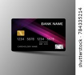 modern credit card template... | Shutterstock .eps vector #784335214